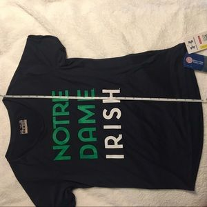 Under Armour Shirts & Tops - Under Armour Notre Dame Irish Youth L girls tee